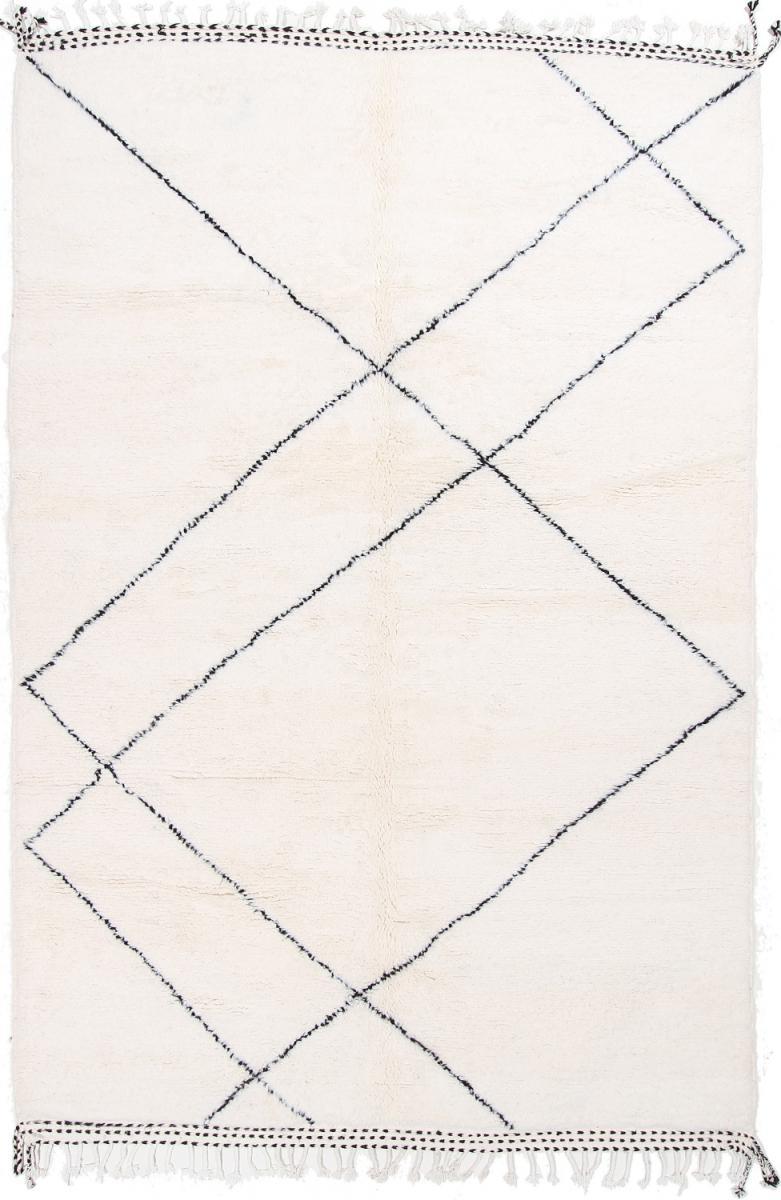 Nain Trading Tapis Berber Maroccan Beni Ourain 317x213 Moderne/Design Gris (Noué à la main, Laine, Maroc)
