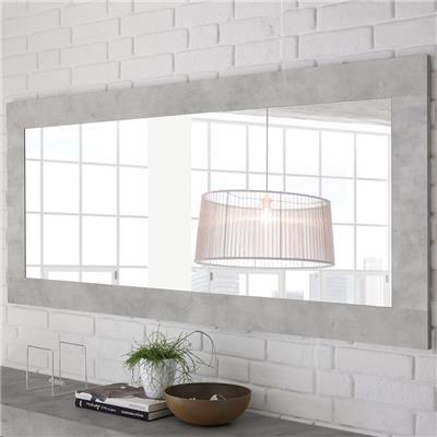 Kasalinea Miroir design effet béton clair MABEL-L 170 x P 5 x H 75 cm- Gris Gris