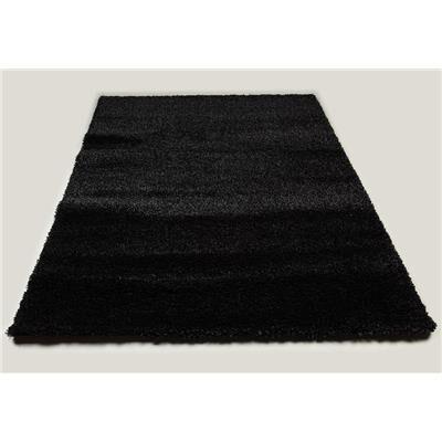 Kasalinea Tapis de salon shaggy noir SPENCER 7-L 160 x P 230 x H 4 cm- Noir Noir