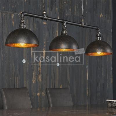 M-001 Luminaire industriel noir et bronze VERTIGO
