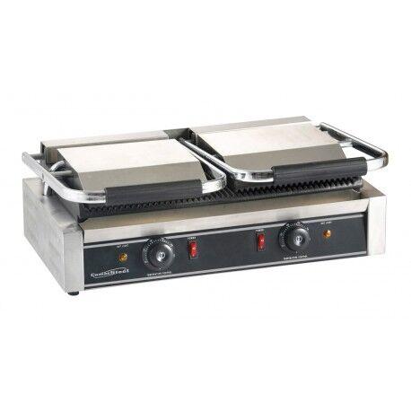 COMBISTEEL Grill à panini professionnel Rainurée - 580 x 410 x 190 mm - Combisteel