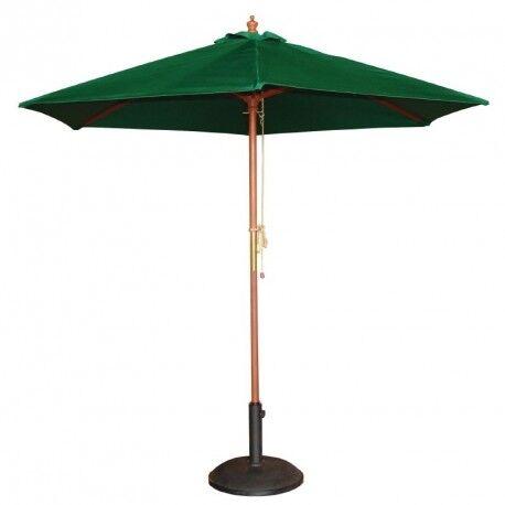 BOLERO Parasol de Terrasse à Poulie Vert Professionnel de 2,5 m - Bolero