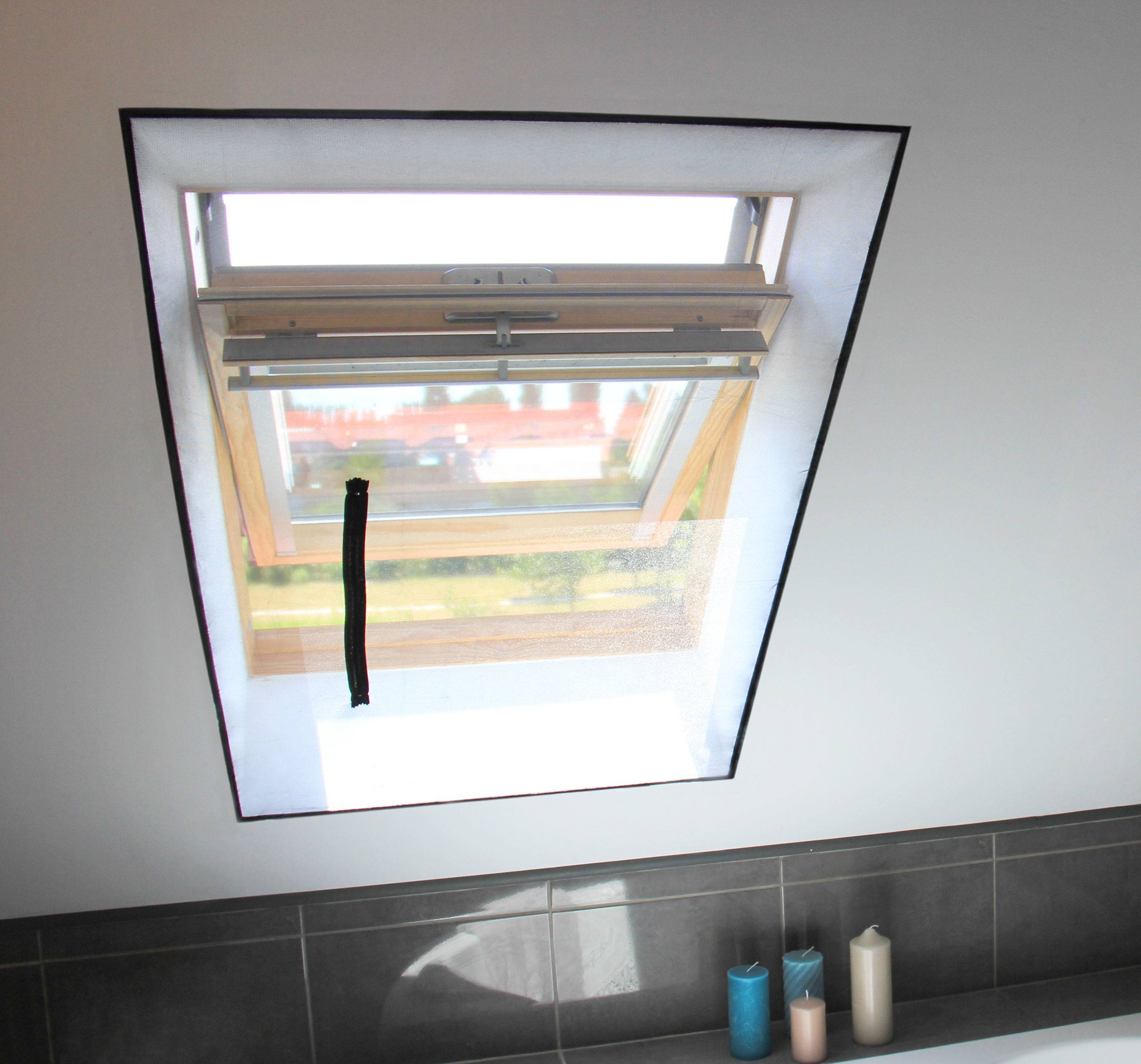 AVOSDIM Toile moustiquaire zippée pour fenêtre de toit sans perçage