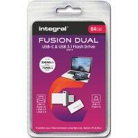 INTEGRAL Clé USB INTEGRAL INFD64GBFUSDUAL3.0-C