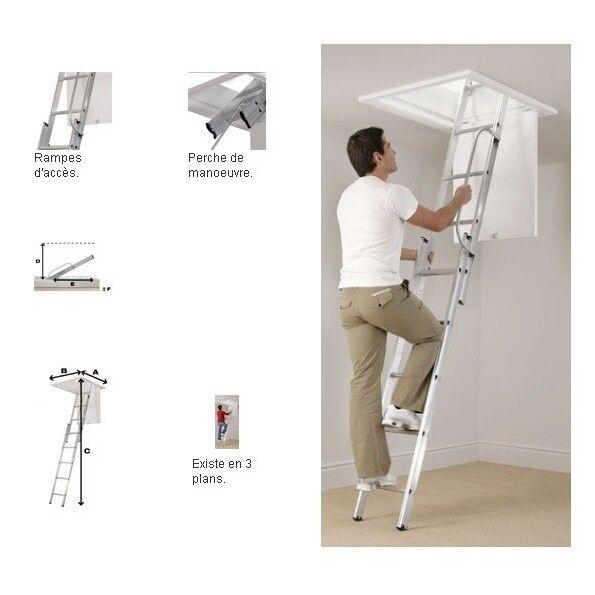 ProSignalisation Escalier escamotable en aluminium