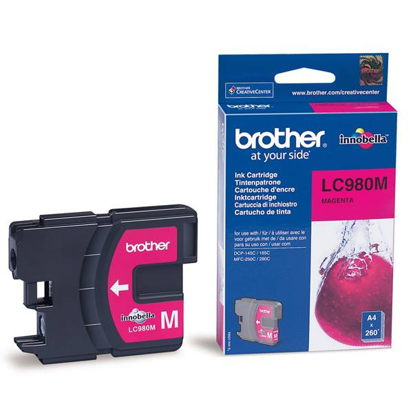 Brother Cartouche d'encre origine Brother LC980M Magenta