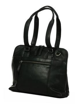 The Chesterfield Brand Sacoche ordinateur femme en cuir Chesterfield Brand Cara 12 pouces Noir Solde