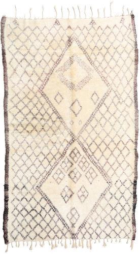 Noué à la main. Origine: Morocco 187X310 Tapis Berber Moroccan - Beni Ourain Moderne Fait Main Beige/Gris Clair (Laine, Maroc)