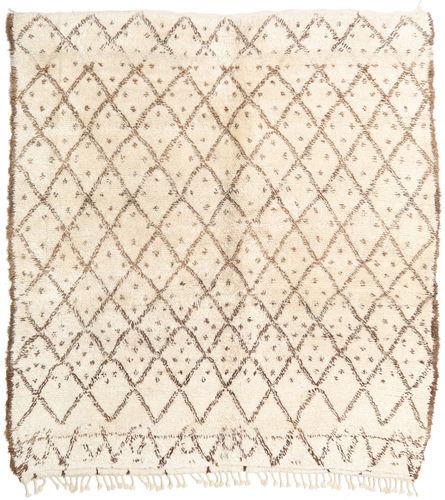 Noué à la main. Origine: Morocco 207X215 Tapis Berber Moroccan - Beni Ourain Moderne Fait Main Carré Beige/Marron Clair (Laine, Maroc)