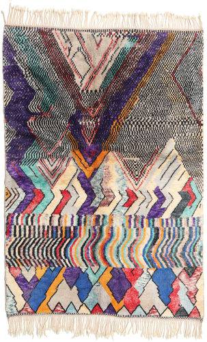 Noué à la main. Origine: Morocco Tapis Berber Moroccan - Beni Ourain 168X245 Beige/Violet Foncé (Laine, Maroc)
