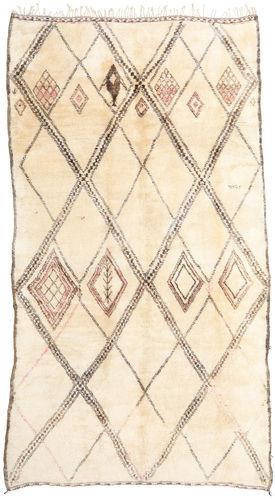 Noué à la main. Origine: Morocco Tapis Berber Moroccan - Beni Ourain 202X376 Tapis Couloir Beige/Rose Clair (Laine, Maroc)