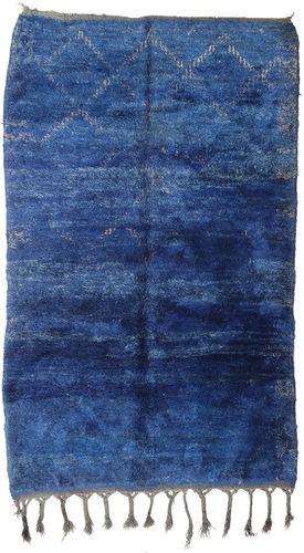 Noué à la main. Origine: Morocco 182X294 Tapis Berber Moroccan - Beni Ourain Moderne Fait Main Bleu Foncé/Bleu (Laine, Maroc)