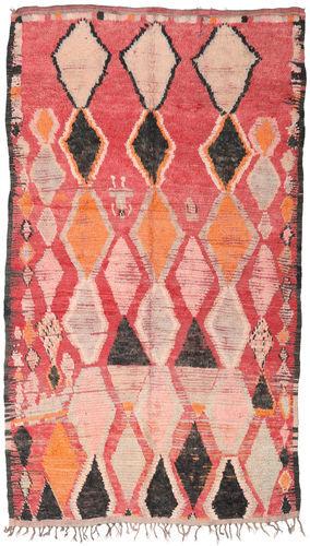Noué à la main. Origine: Morocco Tapis Berber Moroccan - Beni Ourain 164X286 Rose Clair/Beige Foncé (Laine, Maroc)