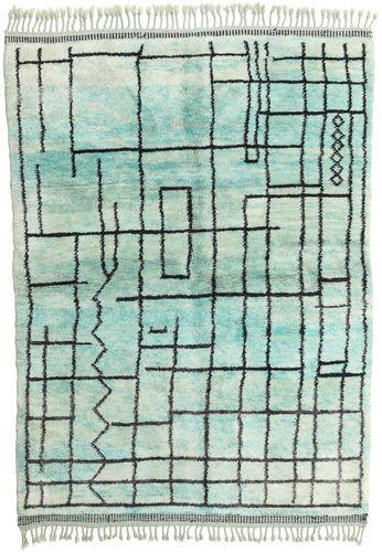 Noué à la main. Origine: Morocco Tapis Berber Moroccan - Mid Atlas 182X250 Vert Pastel/Bleu Turquoise (Laine, Maroc)