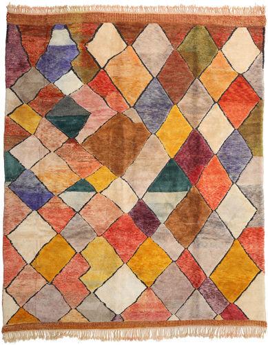 Noué à la main. Origine: Morocco Tapis Fait Main Berber Moroccan - Beni Ourain 324X394 Marron Clair/Rouille/Rouge Grand (Laine, Maroc)