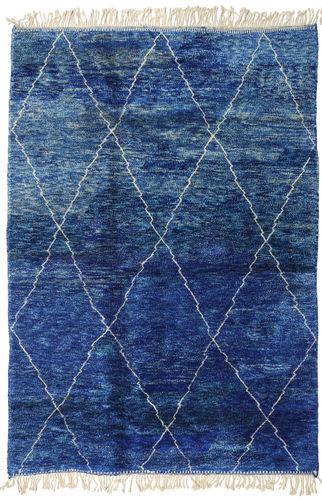 Noué à la main. Origine: Morocco Tapis Fait Main Berber Moroccan - Mid Atlas 207X298 Bleu Foncé/Bleu (Laine, Maroc)
