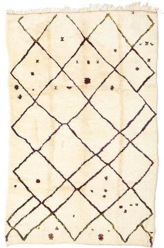 Noué à la main. Origine: Morocco Tapis Fait Main Berber Moroccan - Beni Ourain 198X312 Beige/Beige Foncé (Laine, Maroc)