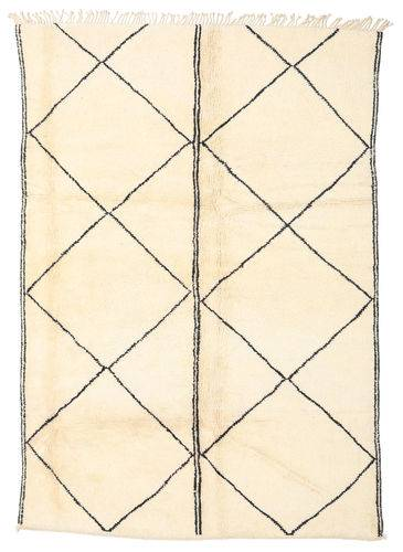 Noué à la main. Origine: Morocco 211X305 Tapis Berber Moroccan - Beni Ourain Moderne Fait Main Beige (Laine, Maroc)