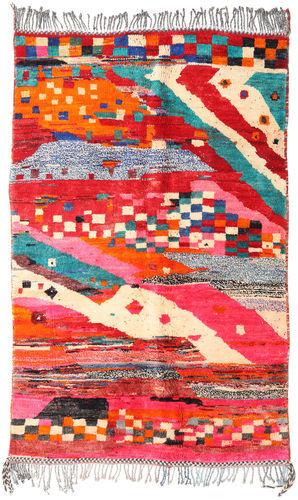 Noué à la main. Origine: Morocco 157X248 Tapis Berber Moroccan - Mid Atlas Moderne Fait Main Rouge/Beige (Laine, Maroc)
