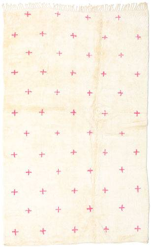 Noué à la main. Origine: Morocco Tapis Fait Main Berber Moroccan - Mid Atlas 156X246 Beige (Laine, Maroc)