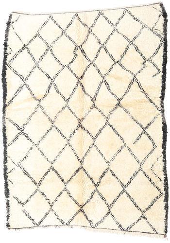 Noué à la main. Origine: Morocco 184X246 Tapis Berber Moroccan - Beni Ourain Moderne Fait Main Beige (Laine, Maroc)