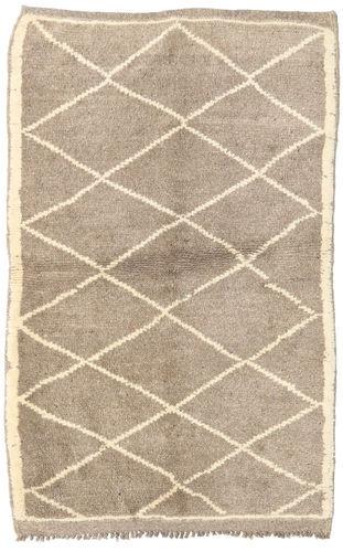 Noué à la main. Origine: Morocco Tapis Berber Moroccan - Mid Atlas 110X168 Gris Clair/Beige (Laine, Maroc)