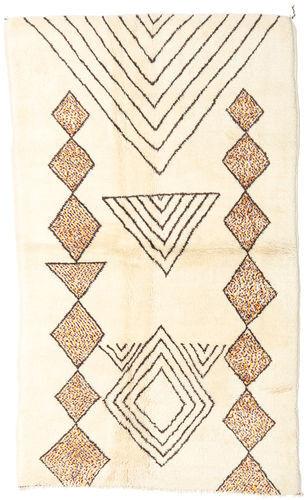 Noué à la main. Origine: Morocco Tapis Fait Main Berber Moroccan - Mid Atlas 150X258 Beige/Rose Clair (Laine, Maroc)