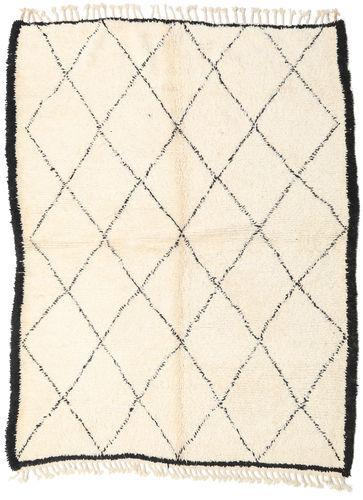 Noué à la main. Origine: Morocco 187X250 Tapis Berber Moroccan - Beni Ourain Moderne Fait Main Beige/Blanc/Crème (Laine, Maroc)