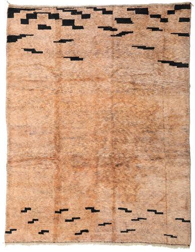 Noué à la main. Origine: Morocco Tapis Fait Main Berber Moroccan - Mid Atlas 303X392 Marron Clair/Rose Clair Grand (Laine, Maroc)