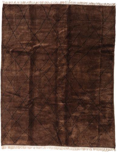 Noué à la main. Origine: Morocco Tapis Berber Moroccan - Mid Atlas 308X393 Rouge Foncé Grand (Laine, Maroc)