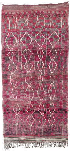 Noué à la main. Origine: Morocco 180X380 Tapis Berber Moroccan - Mid Atlas Moderne Fait Main Tapis Couloir Violet Clair/Violet (Laine, Maroc)