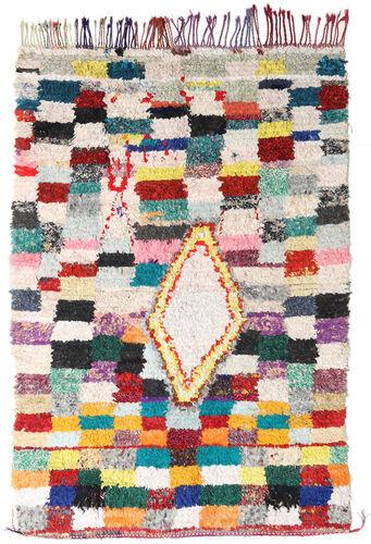 Noué à la main. Origine: Morocco Tapis Fait Main Berber Moroccan - Boucherouite 172X246 Gris Clair/Blanc/Crème ( Maroc)