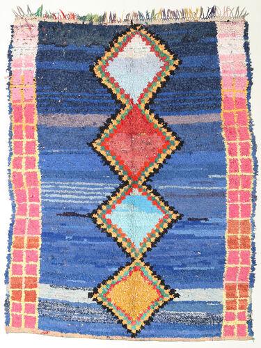 Noué à la main. Origine: Morocco 172X220 Tapis Berber Moroccan - Boucherouite Moderne Fait Main Bleu/Bleu Foncé (Maroc)