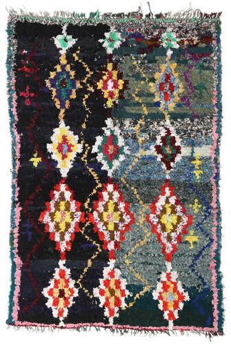 Noué à la main. Origine: Morocco 165X250 Tapis Berber Moroccan - Boucherouite Moderne Fait Main Gris Foncé/Gris Clair (Maroc)