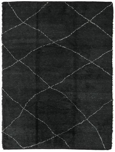 Noué à la main. Origine: Morocco Tapis Fait Main Berber Moroccan - Beni Ourain 258X350 Gris Foncé Grand (Laine, Maroc)