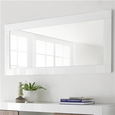 M-012 Miroir mural blanc laqué MABEL-L 170 x P 5 x H 75 cm- Blanc