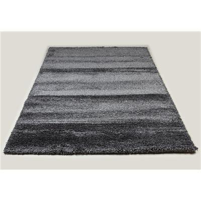 Kasalinea Tapis de salon shaggy anthracite SPENCER 8-L 200 x P 290 x H 4 cm- Gris