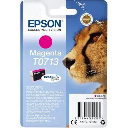 Cartouche Imprimante Epson «guépard» - T0713 Magenta
