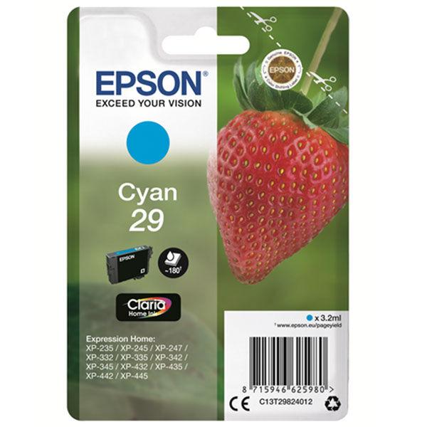 Cartouche D'encre N°t29 Fraise - Cyan - Epson