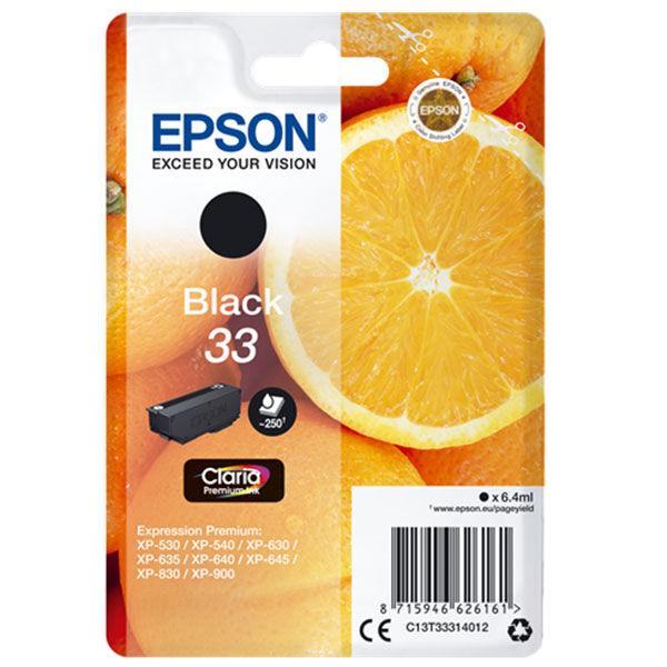 Cartouche D'encre N°t33 Orange - Noir - Epson