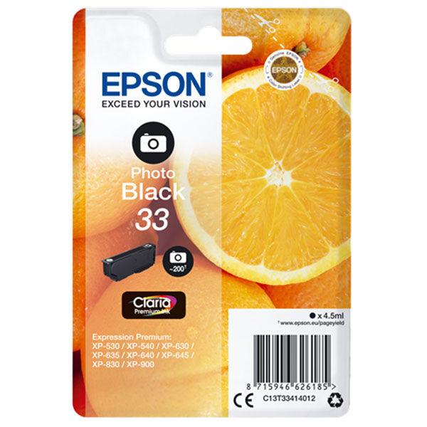 Cartouche D'encre N°t33 Orange - Photo Noir - Epson