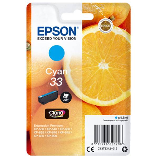 Cartouche D'encre N°t33 Orange - Cyan - Epson