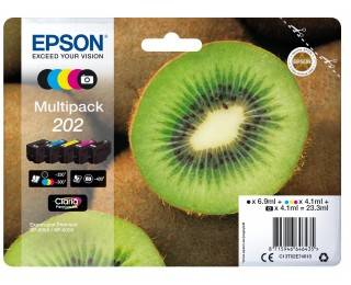 Cartouche D'encre 202 Kiwi - Noir Et Couleur - Epson