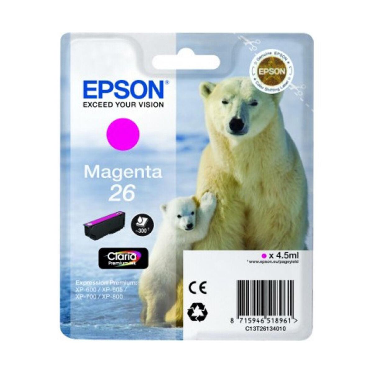 Cartouche Imprimante Epson «ours Polaire» - N°26 Magenta