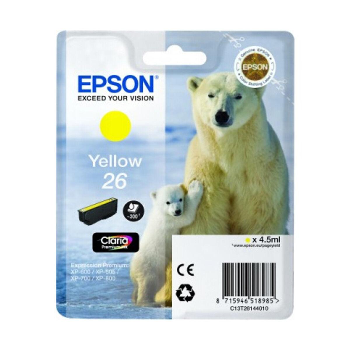 Cartouche Imprimante Epson «ours Polaire» - N°26 Jaune