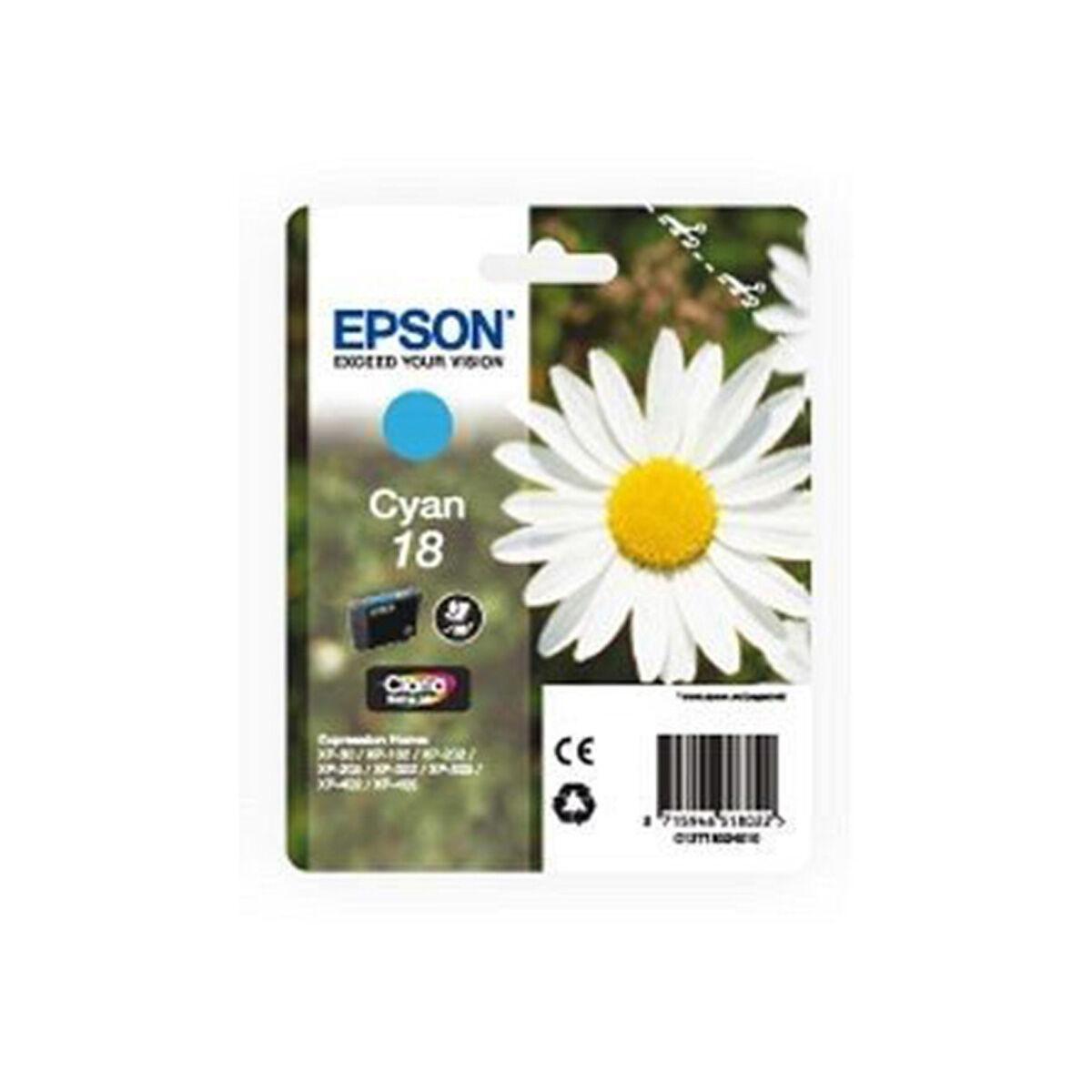 Cartouche Imprimante Epson Série Pâquerette 18 - Cyan