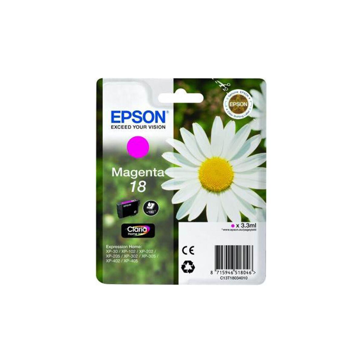 Cartouche Imprimante Epson Série Pâquerette 18 - Magenta