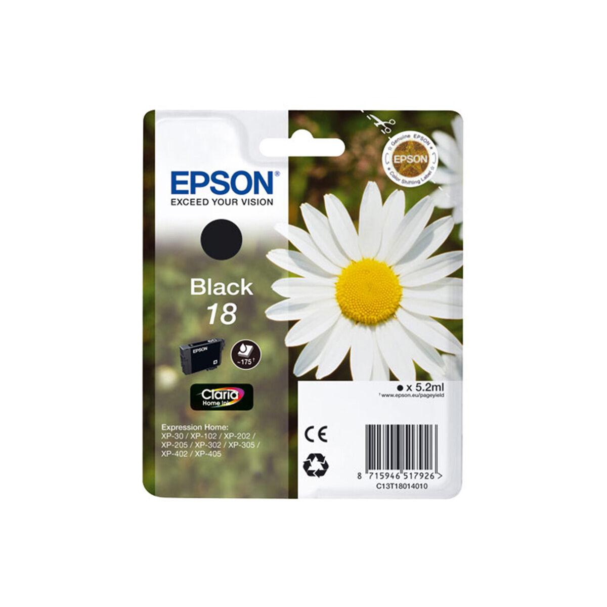Cartouche Imprimante Epson Série Pâquerette 18 - Noire