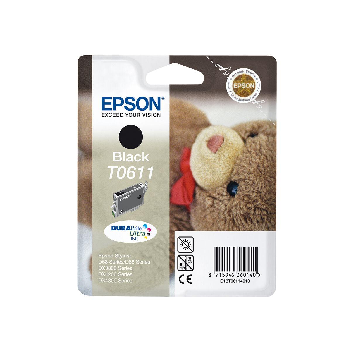 Cartouche Imprimante Epson «ourson» - T061140 Noir