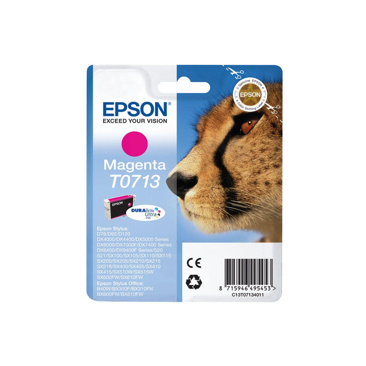 Cartouche Imprimante Epson «guépard» - T0713 - Magenta